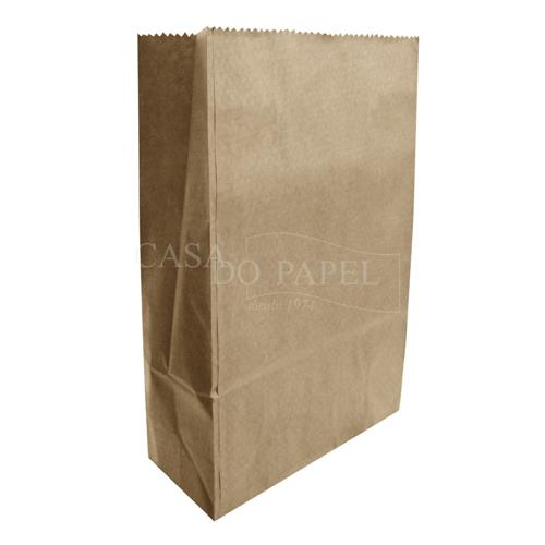 a54412eaf Saco Papel Kraft Fundo Chato 5kg 35cm x 18cm x 10cm Sanfona com 100 Unidades