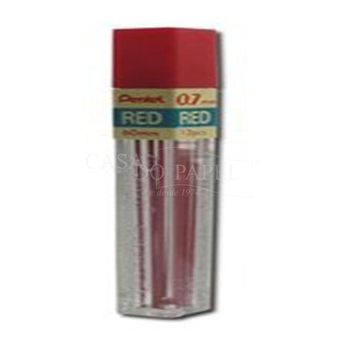 18d8e9e53 Grafite 0.7mm 12 Minas Pentel PPR Vermelho - PENTEL